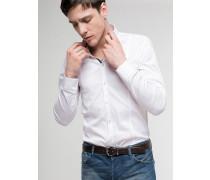 Hemd aus Baumwollpopelin mit Stretch