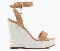 Sandalen mit Plateausohle aus Sämischleder