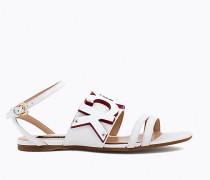 Sandalen aus gehämmertem Leder