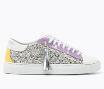 Sneakers aus Leder mit Glitzer