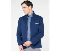 Jacke mit durchgehendem Zipp aus Strickstoff mit Stretch