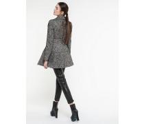 Doppelreihiger Mantel aus Bouclé-Wolle