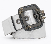 Hoch sitzender Gürtel aus Leder