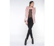 Jeansjacke mit Gilet aus Kunstfell an der Innenseite