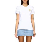 T-shirt mit Gesticktem Maskottchen
