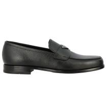 Loafer aus Mikrostrukturiertem Leder