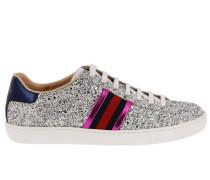 Sneakers New Ace Glitter Sneaker aus Echtem Leder Soft Laminiert