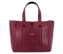 Shopping Bag aus Leder mit Logo und Maxi H