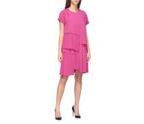 N°21 Kleid in Cady mit Plissierten Volants