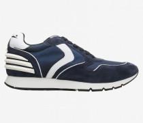 Sneakers aus Wildleder und Canvas