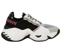 Sneakers aus Wildleder und Netz