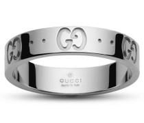 Schmuck Low Icon Ring 11 in Gold mit Graviertem Gg