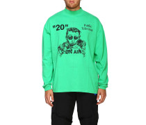 Langarm-shirt mit Maxi-print