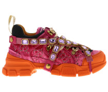 Flashtrek Sneakers aus Samt und Makronetz