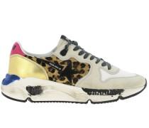 Running Sun Sneakers aus Wildleder und Netz