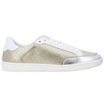Niedrige Sneakers aus Laminiertem und Perforiertem Leder