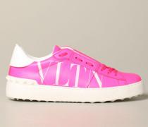 Open Sneakers aus Fluo Leder mit Vltn-logo