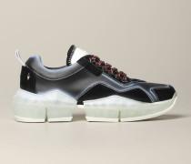 Diamond Sneakers aus Leder und Wildleder