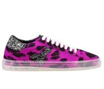 Sneakers mit Strass-logo
