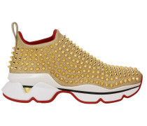 Spikes Socks Slip On Sneakers aus Lurex