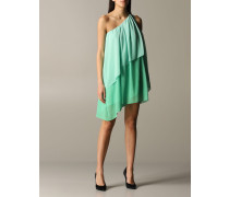 One-shoulder-chiffon-kleid mit Volants