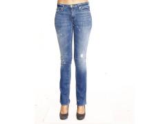 Jeans Denim Used Wide Legs