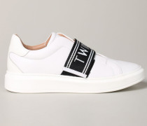 Sneakers mit Logo-band