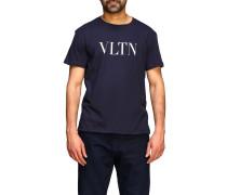 T-shirt mit Rundhalsausschnitt und Vltn-print