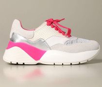 Sneakers aus Wildleder und Mesh
