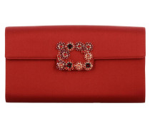 Clutch Envelope Flap Satin Flower Buckle
