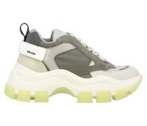 New Chunky Sneakers aus Veloursleder und Mesh