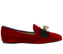 Ballerinas Etoile Loafers aus Weichem Samt
