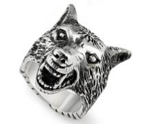 Schmuck Anger Forest Wolfs Ring aus Sterlingsilber