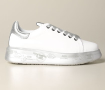 Belle Sneakers aus Glattem und Laminiertem Leder
