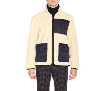 Umkehrbare Jacke aus Leder