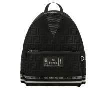 Ff Roma Rucksack aus Mesh und Nylon mit Maxi-logo