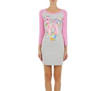 Kleid Zweifarbiges Eng Anliegendes Kleid, Langärmlig