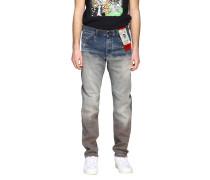 D-strukt Jeans aus Used Stretch-denim