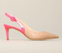 Sandale mit Fluoreszierenden Farbigen Details