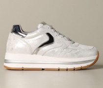 Sneakers aus Verspiegeltem Leder