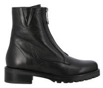 Stiefel aus Leder mit Reißverschluss