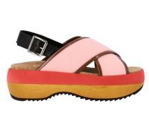 Sandale aus Dreifarbigem Leder