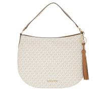 Hobo Bag Brooke Large Zip Hobo Bag Vanilla/Acorn beige