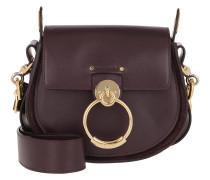 Umhängetasche Tess Shoulder Bag Small Leather Black Raisin lila