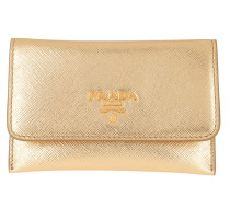 Portemonnaie Card Holder Saffiano Leather Gold gold
