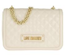 Umhängetasche Quilted Nappa Pu Chain Crossbody Bag Avorio beige