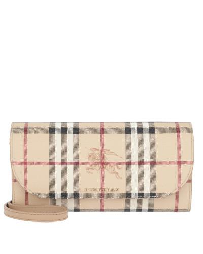 Henley Haymarket Check Wallet on Chain Mid Camel Tasche