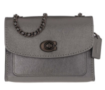 Umhängetasche Metallic Leather Parker 18 Shoulder Bag Graphite