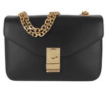 Umhängetasche C Bag Medium Calfskin Black schwarz