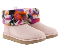 Boots Classic Boot Fluff Mini Quilted Motlee Multi rosa